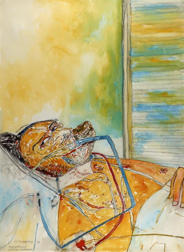 Self-Portrait with Oxygen Mask (from 'The Addenbrookes Hospital Series') (Dated 19 May 1988)