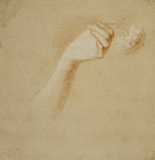 A Lady's Left Hand Holding a Rose. Study for the Painting 'The Artist's Wife: Margaret Lindsay of Evelick' (About 1758 - 1760)