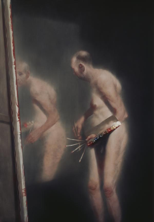 'Unfamiliar Reflection': Self-portrait by Ken Currie (b 1960) (2006)