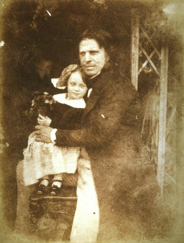 David Octavius Hill with his daughter, Charlotte [Group 141] (Probably 1843)