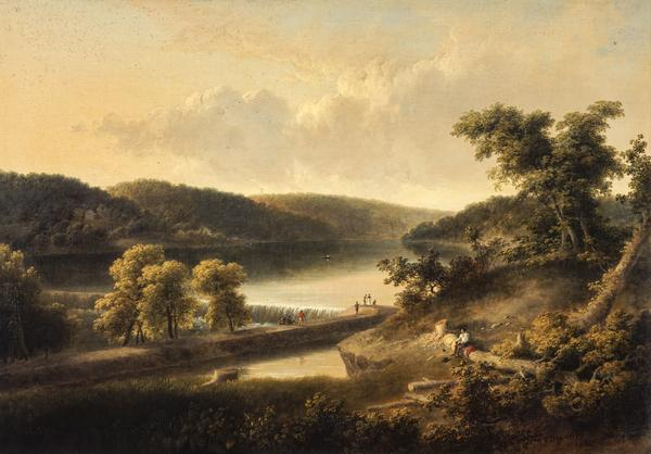 A View of the Flat Rock on the Schuylkill, near Philadelphia (1827)