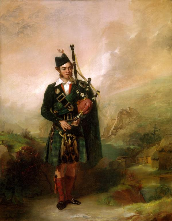 Angus Mackay, 1812 - 1859. Piper to Queen Victoria, 1843 - 1853 (Dated 1840)