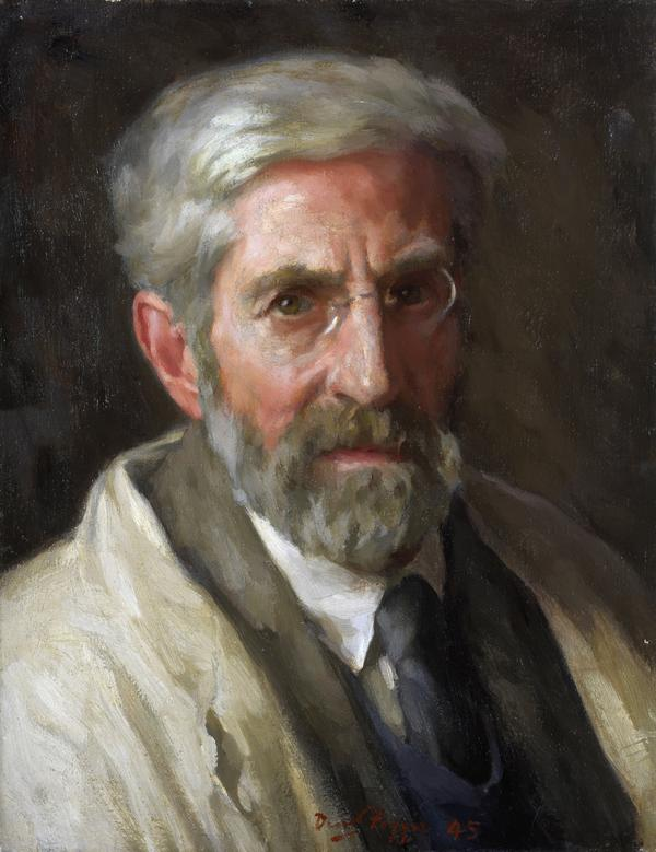 David Foggie, 1878 - 1948. Artist (Self-portrait) (1945)