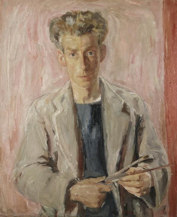 Sir William George Gillies, 1898 - 1973. Artist (Self-portrait) (Dated 1940 (on the reverse))
