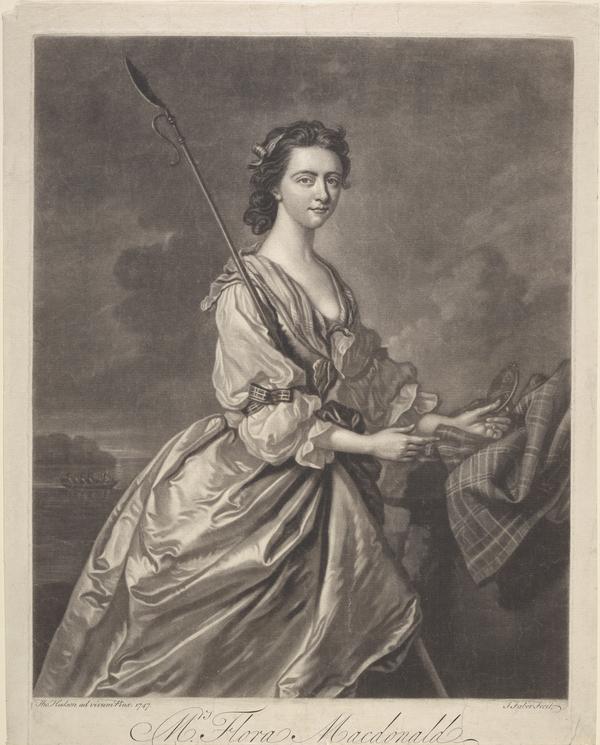 Flora Macdonald, 1722 - 1790. Jacobite heroine (1747)