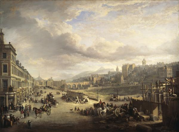 Princes Street with the Commencement of the Building of the Royal Institution (1825)