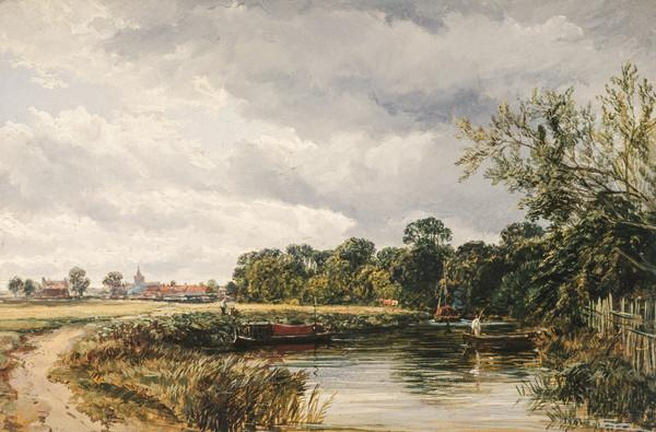 An English Canal Scene