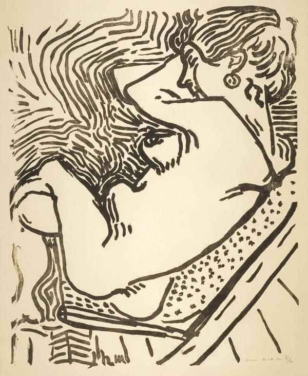 Nu assis (or 'Le Grand bois') [Seated Nude (or 'The Large Woodcut')] (1906)