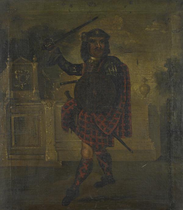 Unidentified man in a kilt, c 1700