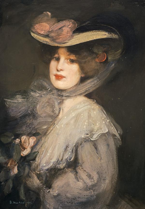 Portrait of a Lady ('Phyllis in Town') (Dated 1904)