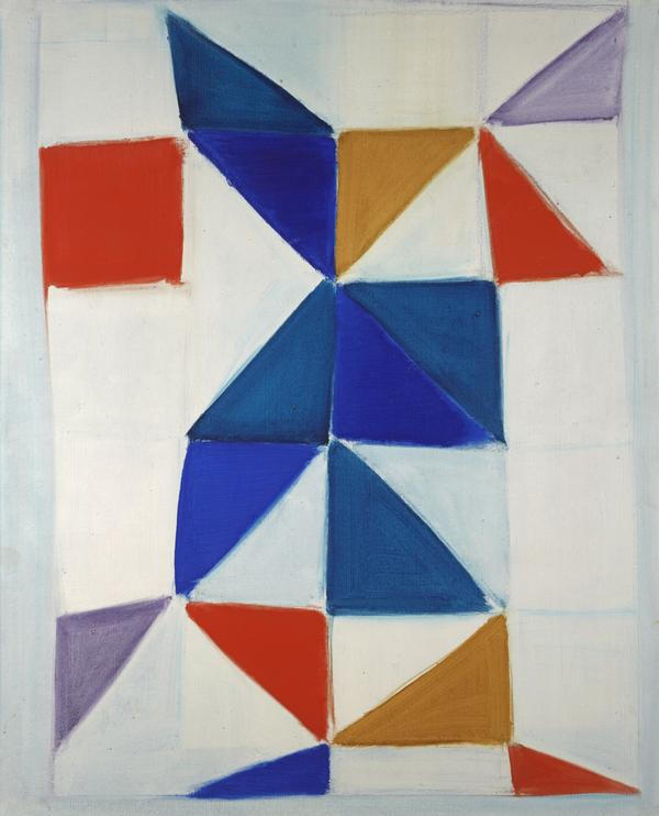 White Painting (with Red, Blue, Violet and Ochre) (1964)