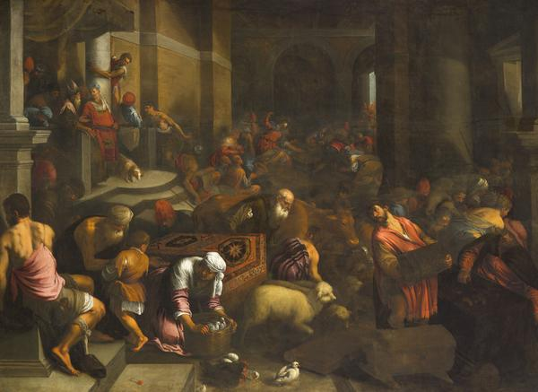 Christ Driving the Money-changers from the Temple (About 1560 - 1590)