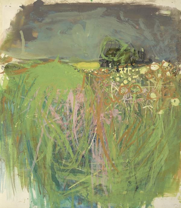 Hedgerow with Grasses and Flowers (About 1962 - 63)