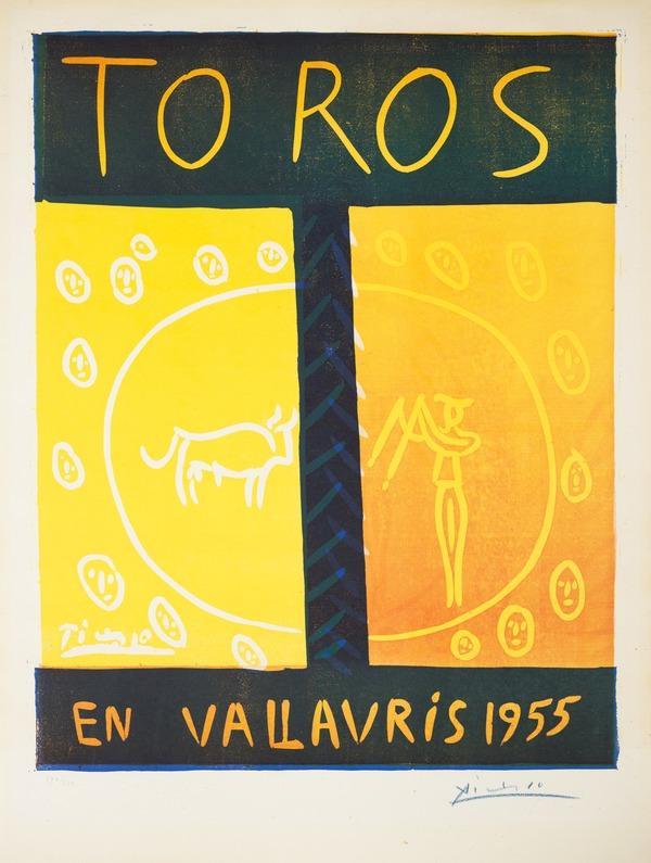 Toros en Vallauris 1955 (1955)