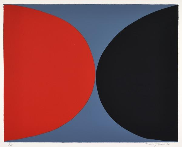 Red and Black on Grey (Dated 1968)