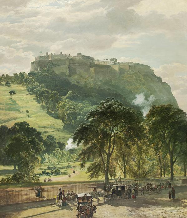 Edinburgh Castle from Princes Street (late 1860s)