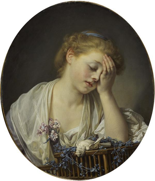 A Girl with a Dead Canary (1765)