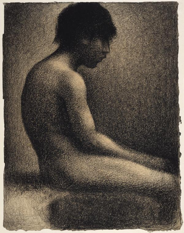 Seated Nude: Study for 'Une Baignade' (1883)