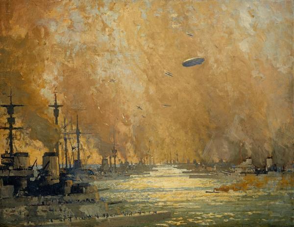 The German fleet after surrender, Firth of Forth, 21 November 1918 (1918)