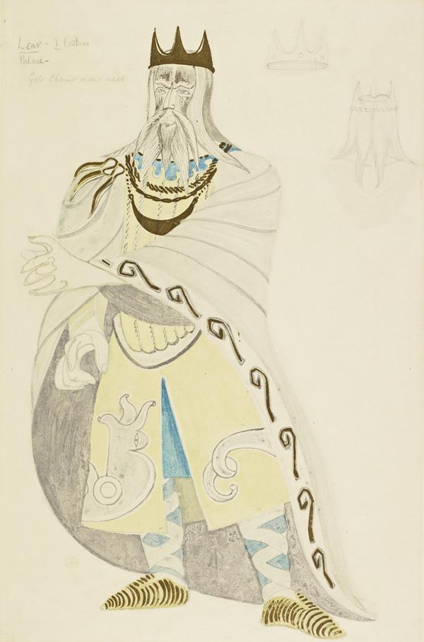 King Lear I: in the Palace (Costume Design for 'King Lear') (1953)
