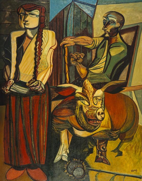 Figures in a Farmyard (1953)