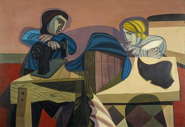 Two Women Sewing (1953)