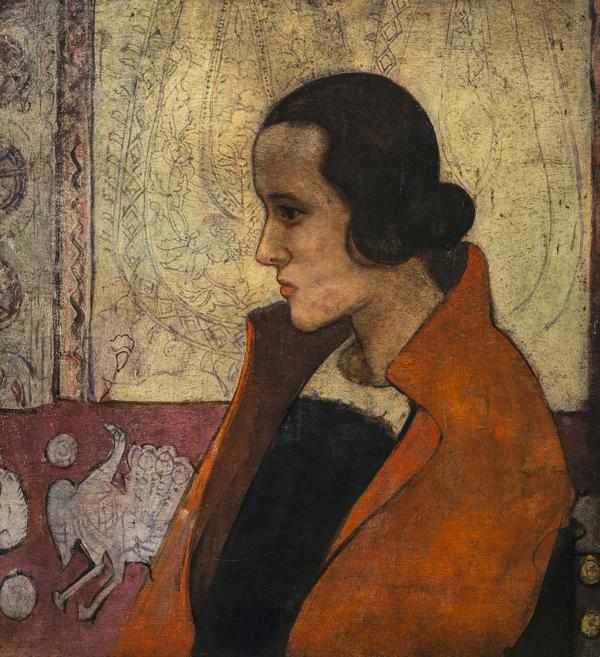 Girl in a Red Cloak (About 1920)