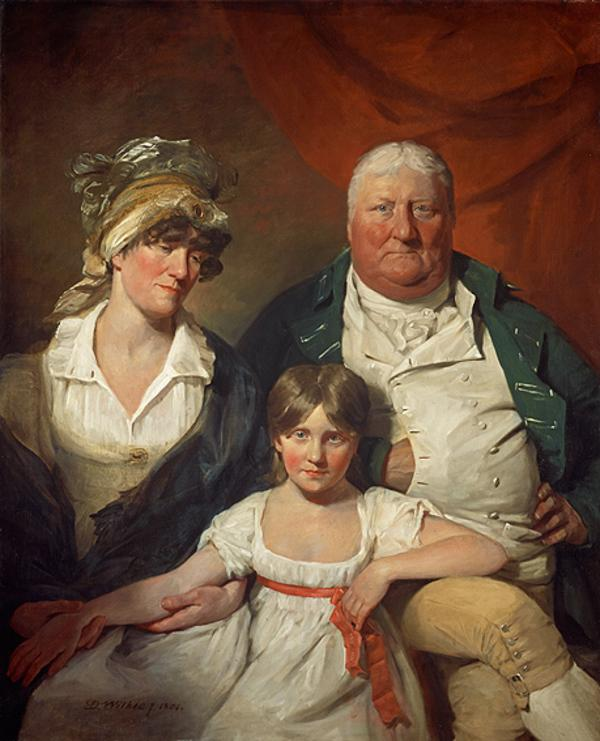 William Chalmers Bethune (1744 - 1807), his Wife Isobel Morison (1760 - 1850) and their Daughter Isabella Maxwell Morison (1795 - 1818) (Dated 1804)