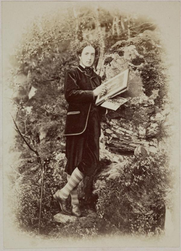 Hon. Lewis Wingfield, sketching near Mar Lodge (August 1863)