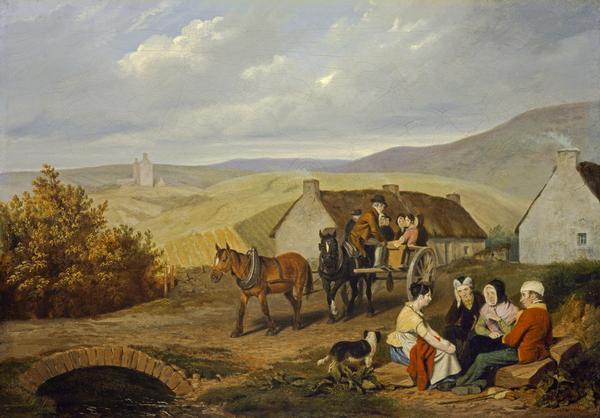 A Scottish Roadside Scene (about 1830)