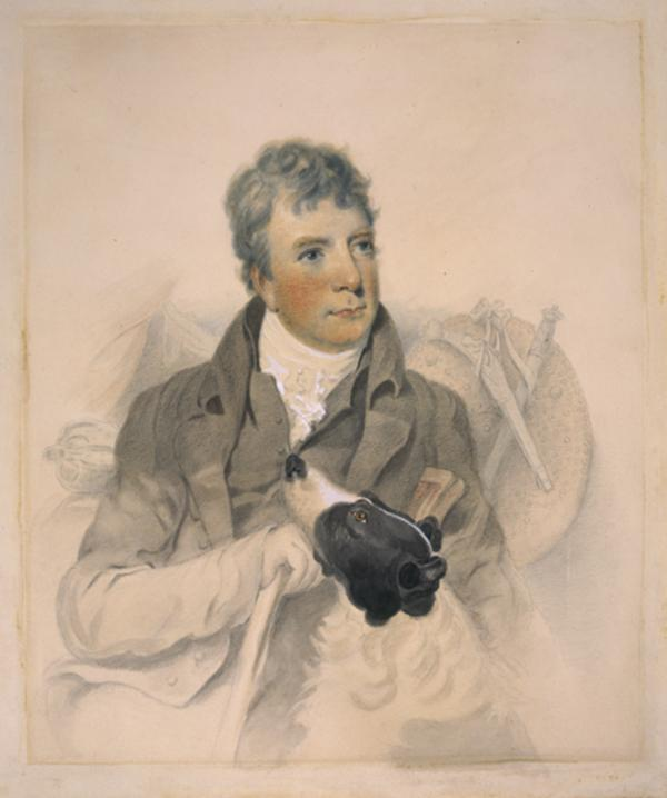 Sir Walter Scott, 1771 - 1832. Novelist and poet (Executed 1815)