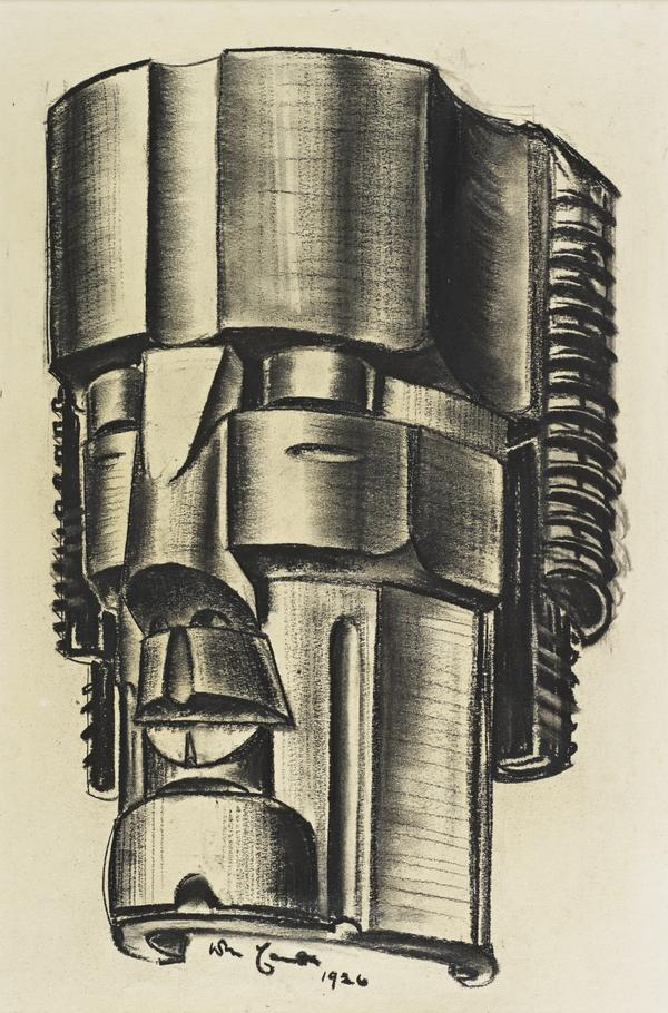 Study for a Colossal Steel Head (Dated 1926)