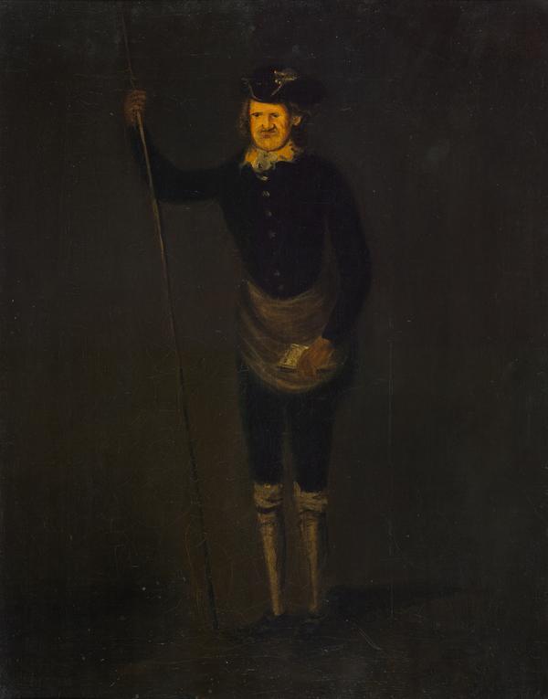 Charles Leslie ('Mussel Mou'd Charlie'), 1676 / 77- 1782. Jacobite ballad-singer (1780)