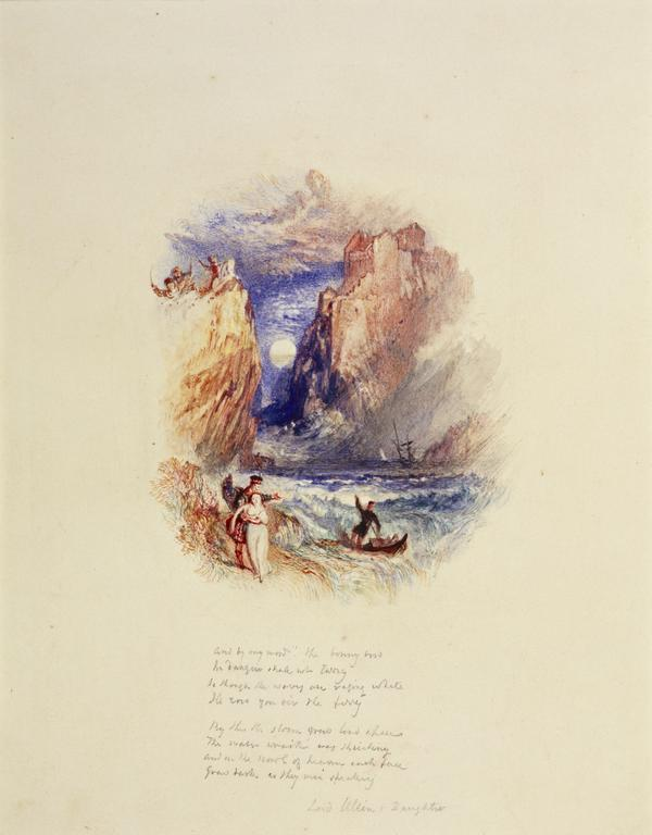 One of Twenty Vignettes - Lord Ullin's Daughter (About 1835)