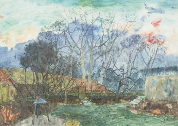 The Garden, Sunset (Dated 1945)