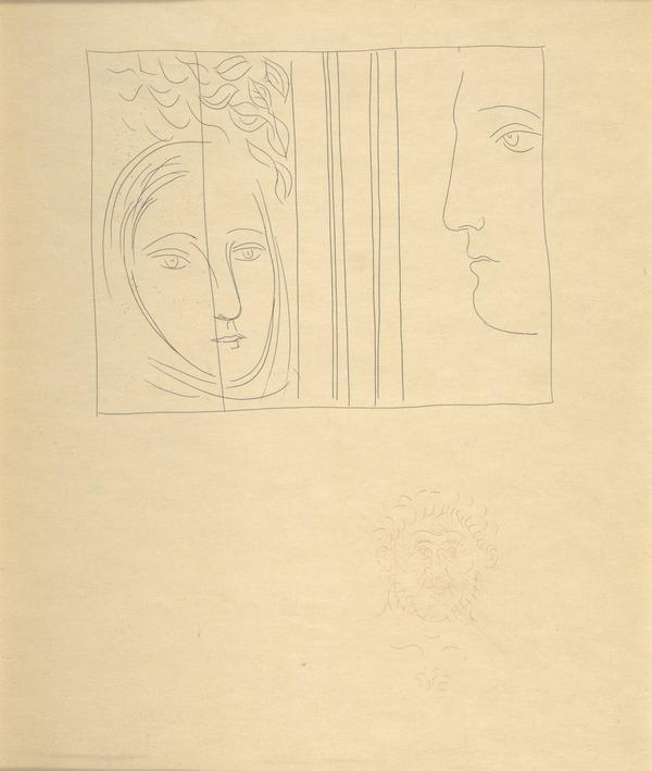 Profil et Tête de femme (from the book Metamorphoses) (1931)