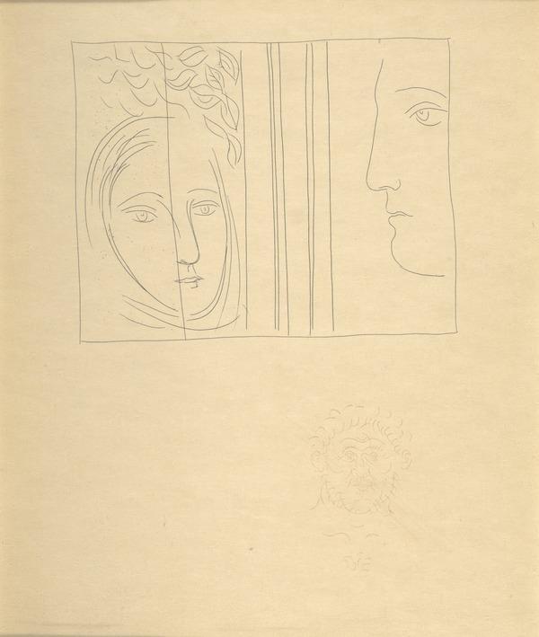 Profil et Tête de femme (from the book Metamorphoses) (1931)