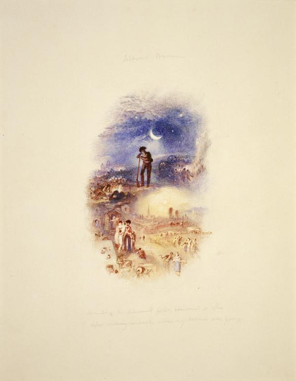 One of Twenty Vignettes -  The Soldier's Dream (About 1835)