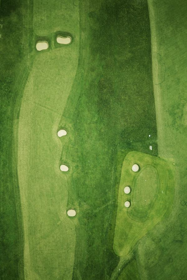 Bunkered Terrain: Golf Landscapes, Scotland (six-part work) #3: Muirfield: the 10th, 2011 (from the ongoing series: The Play Grounds) (2011)