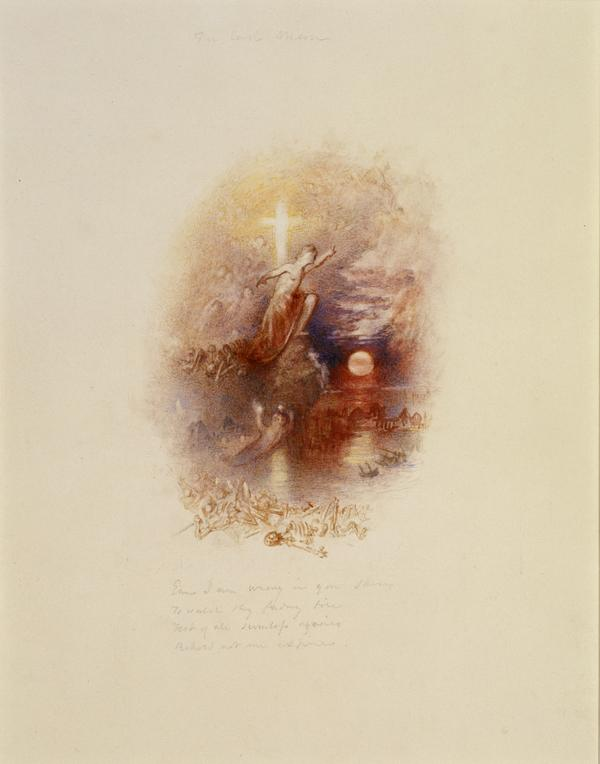 One of Twenty Vignettes -  The Last Man (About 1835)