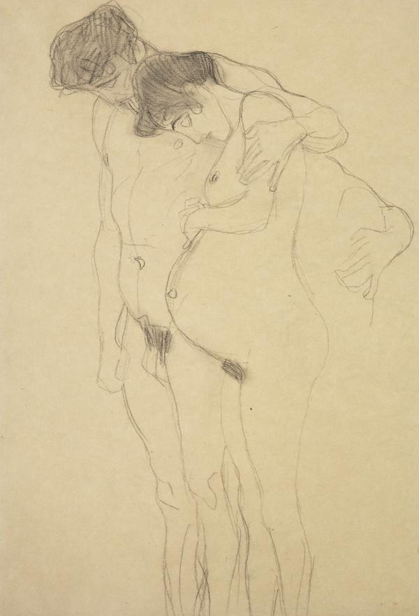 Schwangere mit Mann nach links (Pregnant Woman with Man) (About 1903 - 1904)