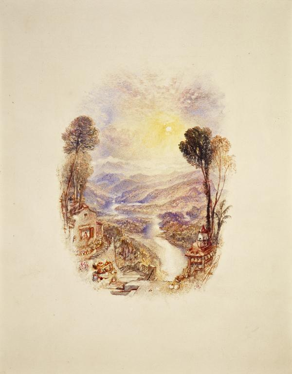 One of Twenty Vignettes -  The Valley (Illustration to 'Gertrude of Wyoming') (About 1835)