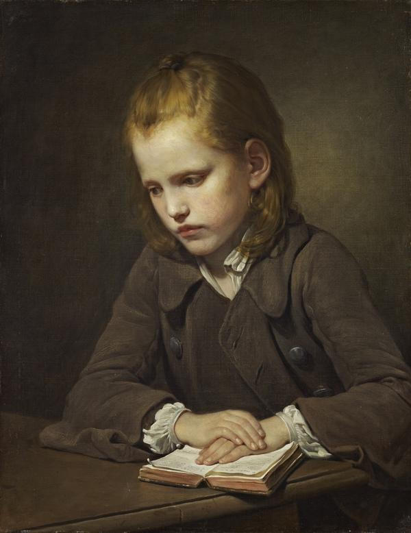 A Boy with a Lesson-book (exhibited 1757)