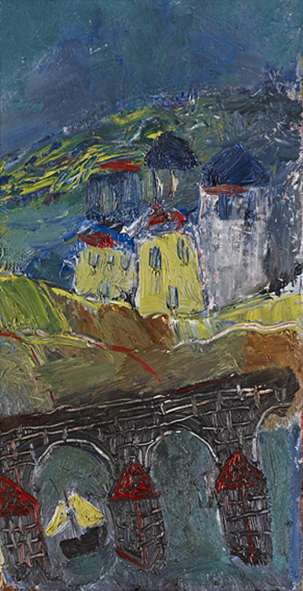 Landscape with Houses and Ancient Bridge (About 1934)