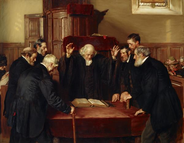 The Ordination of Elders in a Scottish Kirk (Dated 1891)