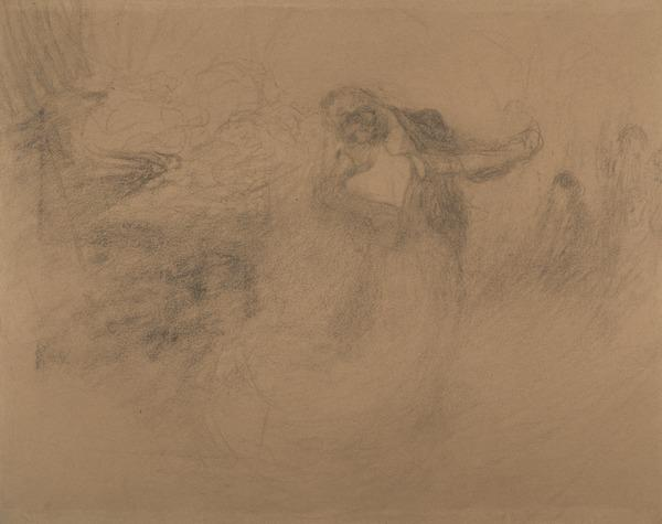 A Couple Dancing. Study for the Painting 'The Last Dance' (About 1905)