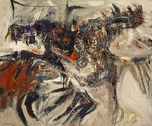 Fighting Cocks, Grey (About 1961)