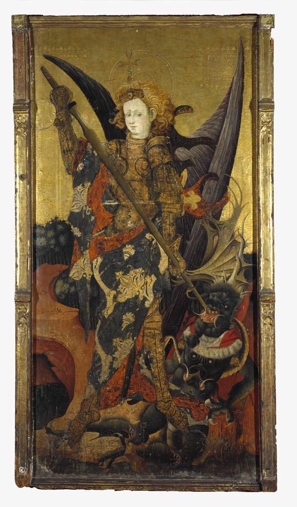 Saint Michael Vanquishing the Devil (early 15th century)