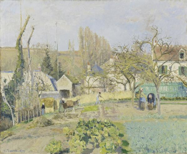 Kitchen Gardens at L'Hermitage, Pontoise (1874)