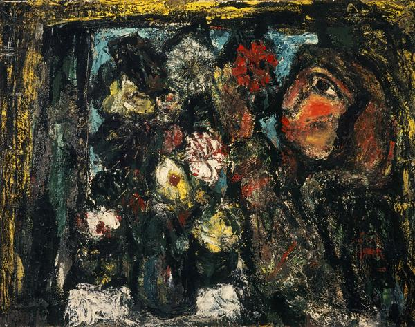 Woman Arranging Flowers (1945)